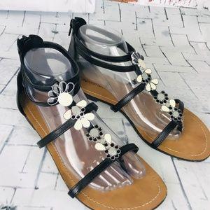 MONTEGO BAY CLUB Embellished Flat Sandals 8.5 EUC